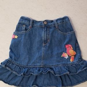 5/$25 Ruffled denim gymboree skirt